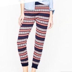 J. Crew Merino Wool Fair Isle Sweater Leggings S